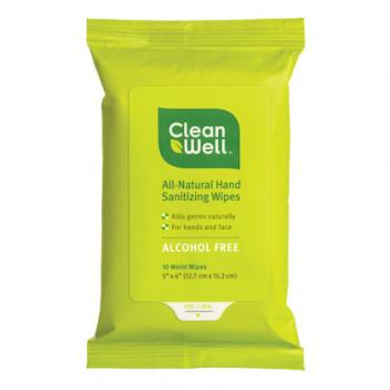 cleanwell hand sanitizer pocket wipes