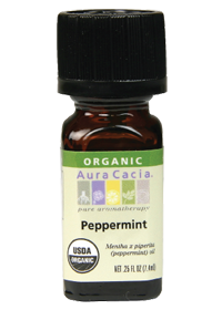 aura cacia organic pepperminet essential oil